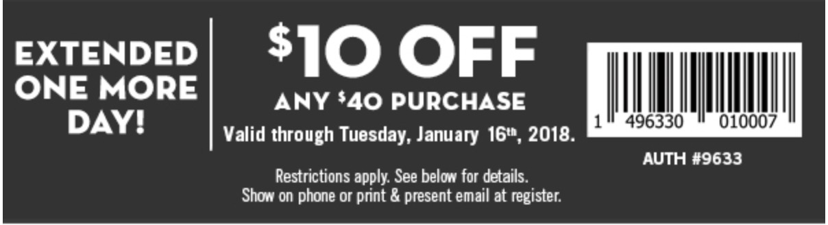 Bath and body works canada coupon jan 2018