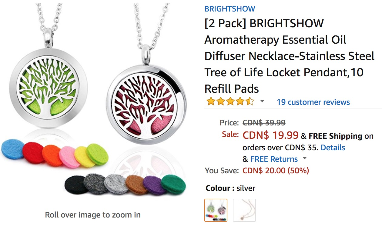 Amazon Canada Deals Save 50 On Brightshow Aromatherapy Essential