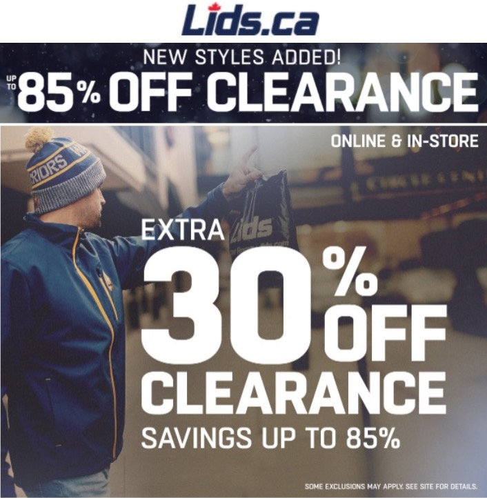 2b8a2a6bd43 Lids Canada Offers  Save up to 85% off Clearance + Extra 50% Off Toques