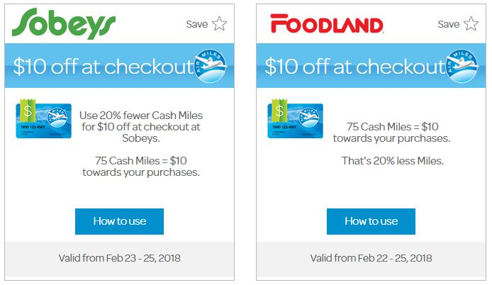 Air Miles Bonus Redemption Foodland Sobeys