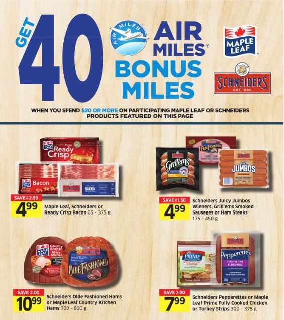 Foodland Maple Leaf Deal 40 Air Miles WUS 20