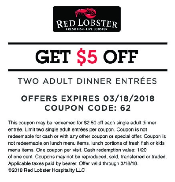 Red lobster may 2019 coupons