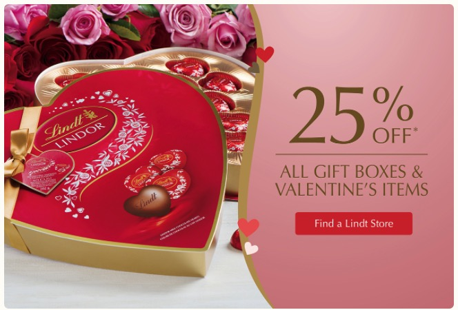 Lindt Chocolate Shop Canada Valentine\'s Day Sale: Save 25% Off All ...