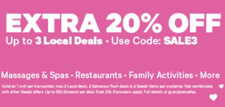 Groupon Canada Deals: Save an Extra 20% Off Local Deals with Promo Code