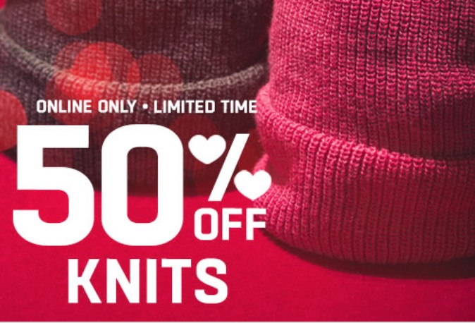 Lids Canada Valentin's Day Deals: Save 50% Off Knits + Promo Code for Extra 25% Off Orders Of $34!