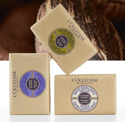 �ล�าร���หารู��า�สำหรั� L'Occitane Shea Butter Extra Gentle Soap - Milk