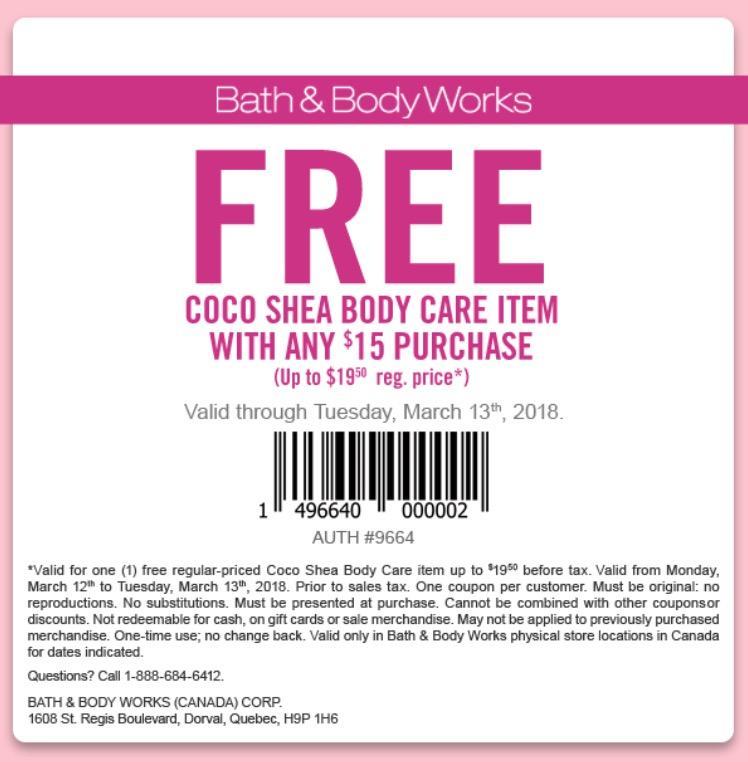 Body shop canada coupon code 2018