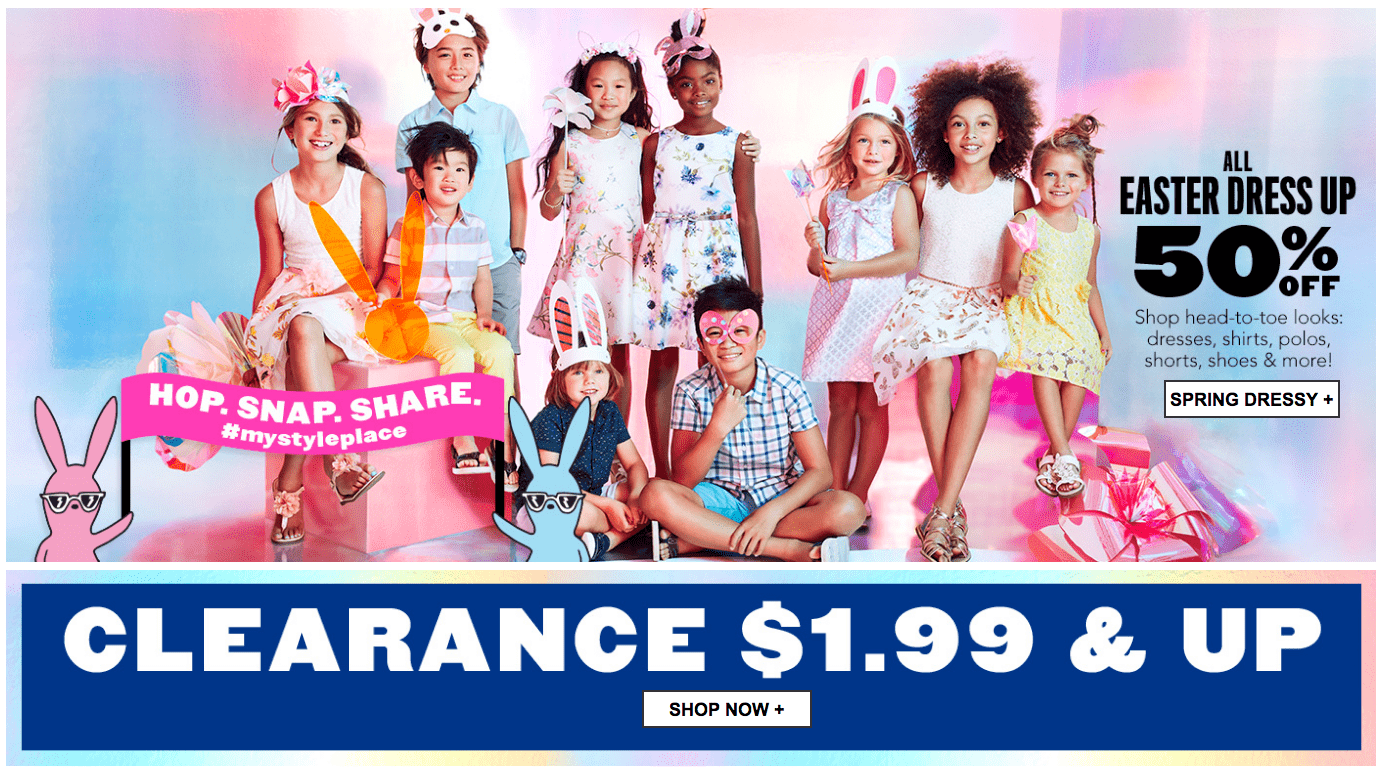 73bf0ed80e9e7 The Children s Place Canada Sale  Save 50% Off Everything Including Easter Dress  Up + Clearance from  1.99 + Free Shipping