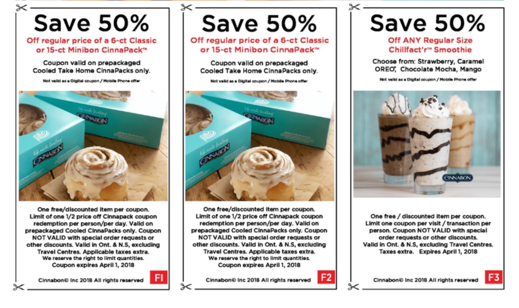 Cinnabon coupons june 2018