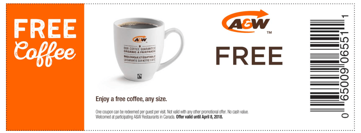 A&w canada coupons