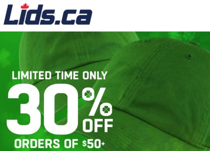 e2229e6bc812c Lids Canada has a new offer available online now for a limited time that  includes  Save an Extra 30% off your order of  50 or more. Enter the promo  code ...