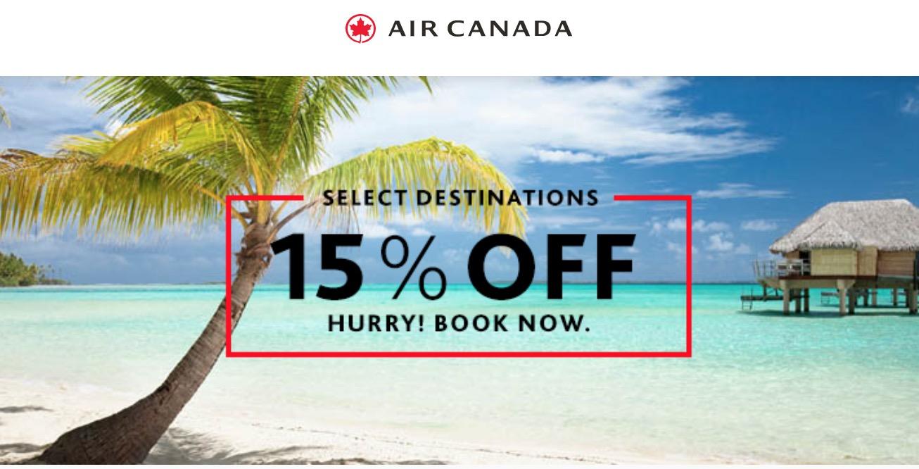 Air canada flight discount coupons