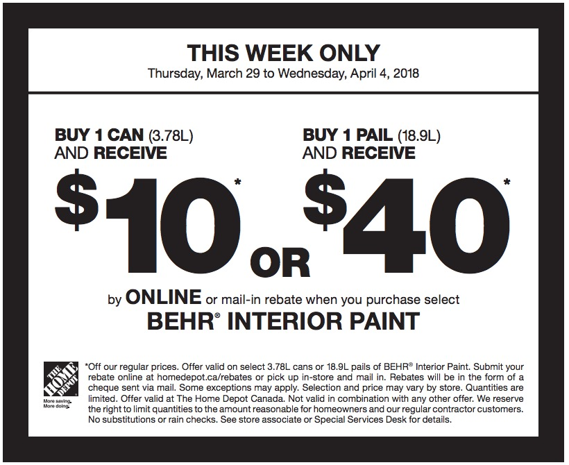 home depot rebates the home depot canada paint rebate coupons receive up to 987