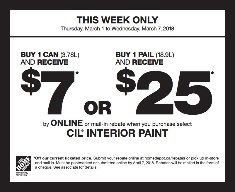 Paint discount coupons