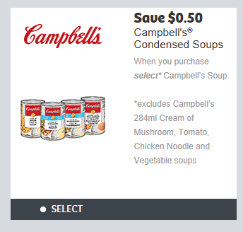 picture regarding Campbell Soup Printable Coupon called WebSaver Canada Discount codes: Help save 50 Cents Upon Opt for Campbells