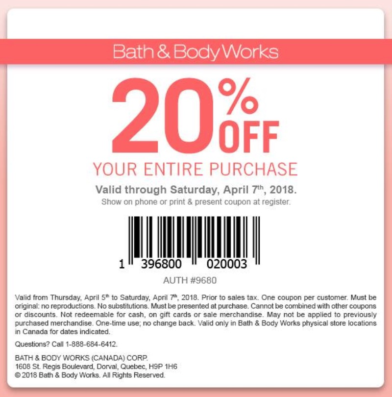 The body shop coupons canada 2018