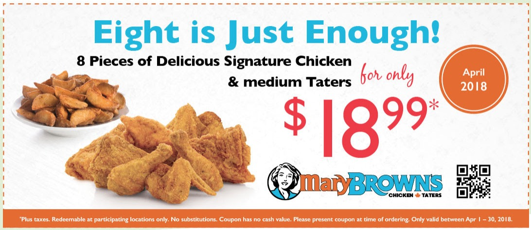 Mary brown's coupons 2019