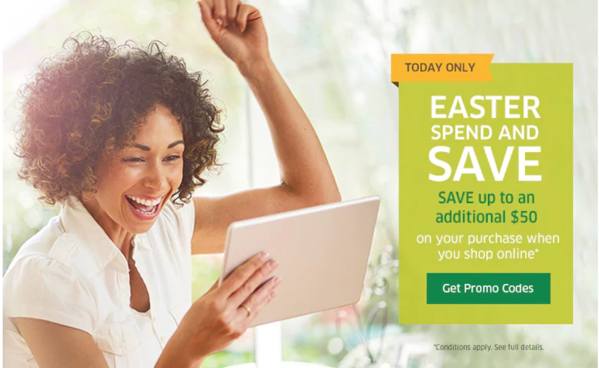 The Source Canada Easter Spend & Save: Save $5 to $50 Off, Online Using Promo Code!