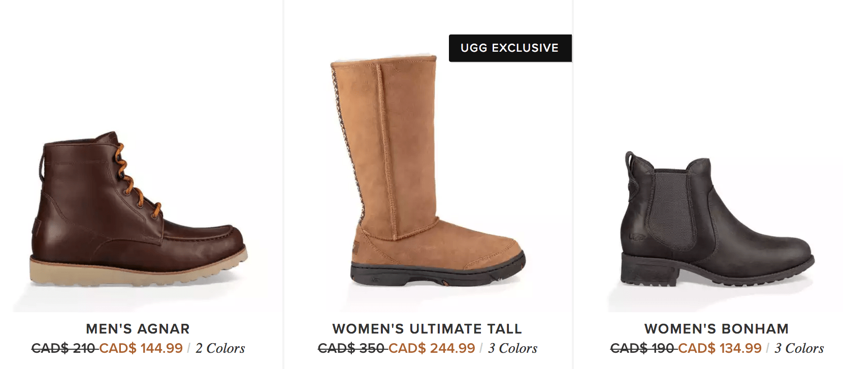 This is a great chance to shop the sale section at UGG where you can save on a wide variety of boots, shoes and sandals for the whole family.