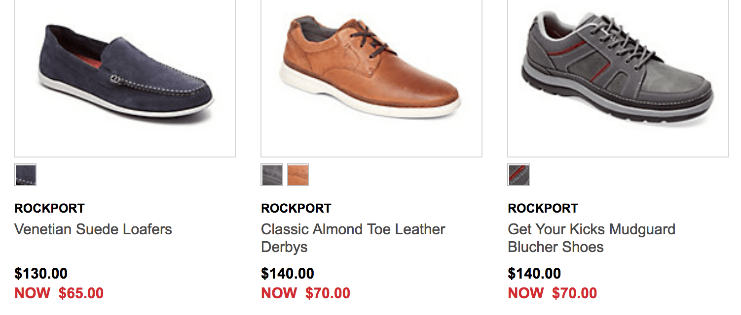 Combine that with the superb sale on men's Rockport shoes where you can  save 50% off a wide range of styles until April 22. Also, you can now save  40% to ...