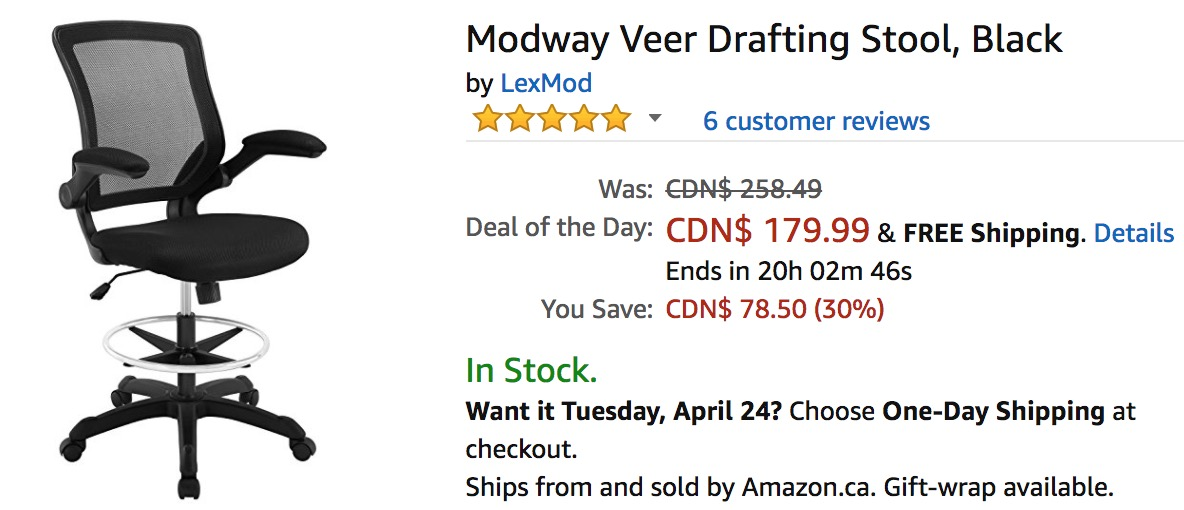 Amazon Canada Deals Of The Day Save 30 On Modway Veer