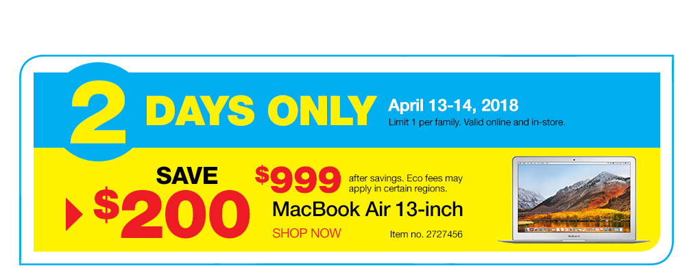 staples canada 2 day sale save 200 off macbook air canadian freebies coupons deals. Black Bedroom Furniture Sets. Home Design Ideas