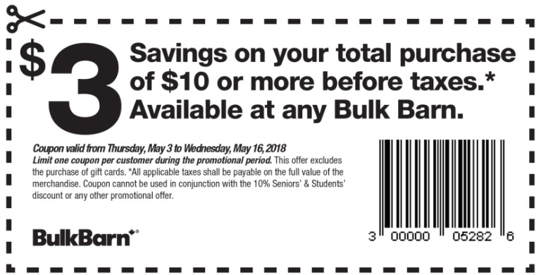 Bulk Barn Canada Coupons Save 3 Off Your 10 Purchase