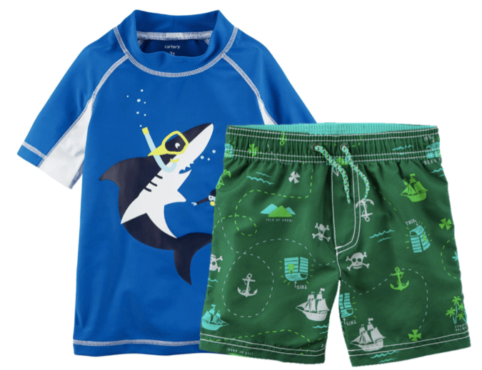 736c4386f9 Within the swimwear sale, you can pick up UV tops for boys for as little as  $15 and then grab a matching pair of swimming trunks for just $13.50.