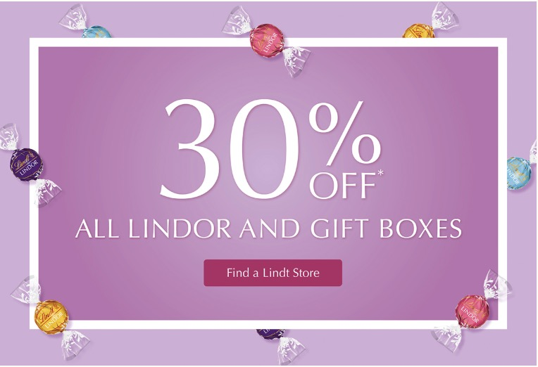 Lindt Chocolate Canada Mother S Day Offers Save 25 Off All Lindt