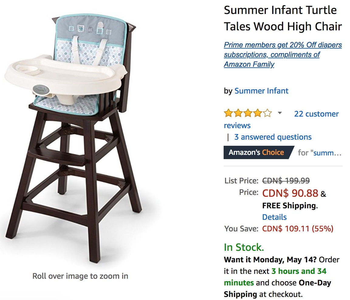 Amazon Canada Deals Save 55 On Summer Infant Turtle Tales Wood