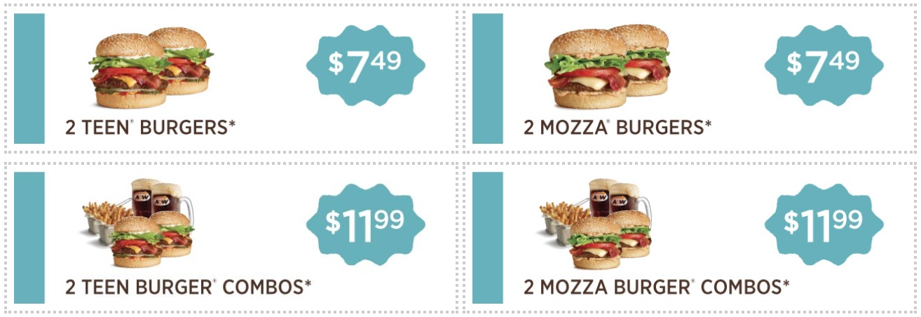 A&W Canada Coupons: Family Combo for $19.99, Apple Turnover & Coffee for $1.99 & More Coupons