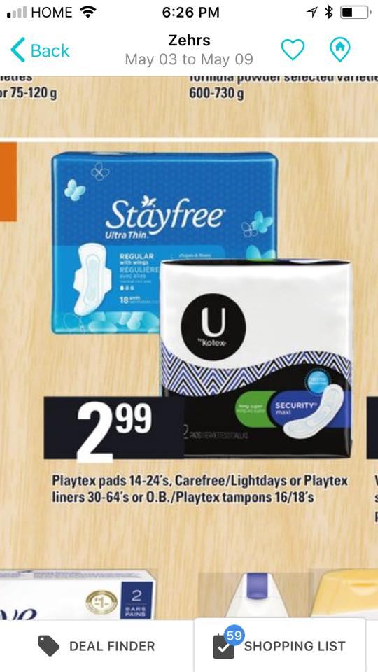 U pads by kotex coupons