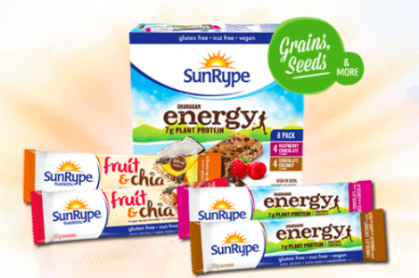 Canadian Coupons: Buy One Get One Free SunRype Energy or Fruit & Chia Bars