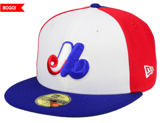 dad6ba0fca086 This Montreal Expos New Era MLB Cooperstown 59FIFTY Cap is on sale for only   22.49 (originally  44.99) when you buy it with another eligible cap of  equal or ...