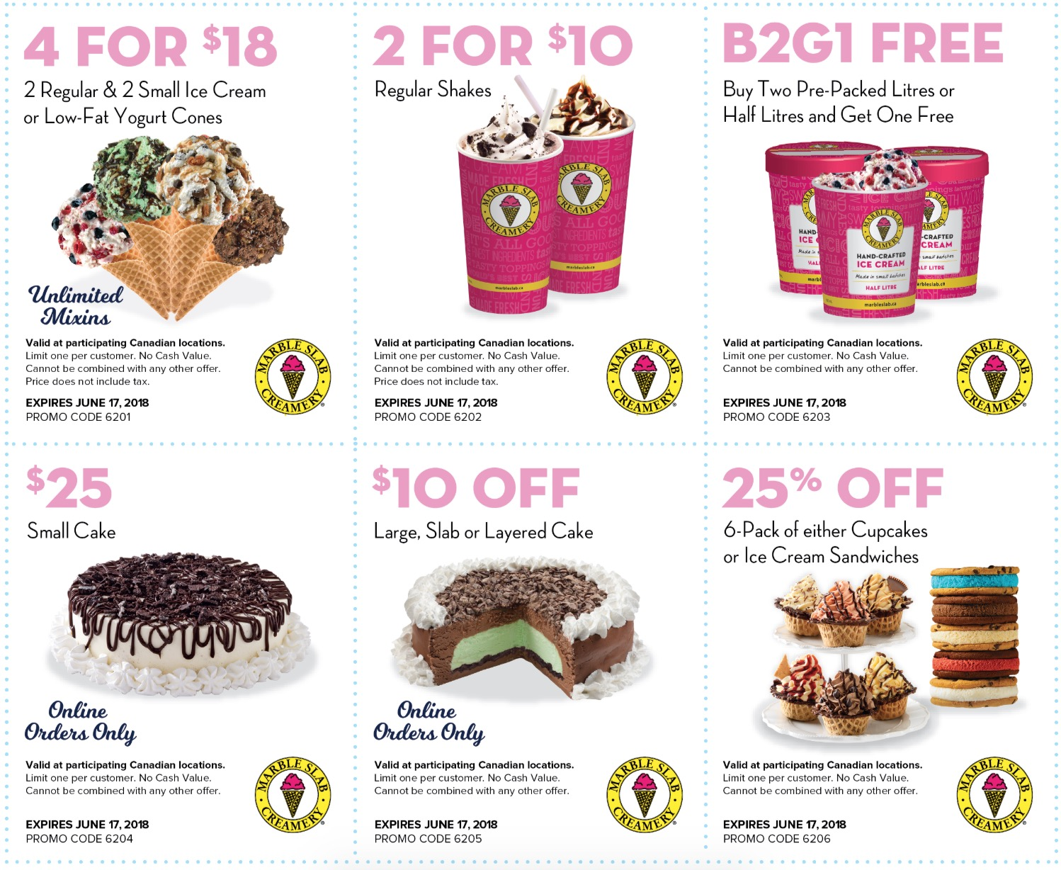 Marble Slab Creamery Canada Coupons Buy 2 Pre Packed