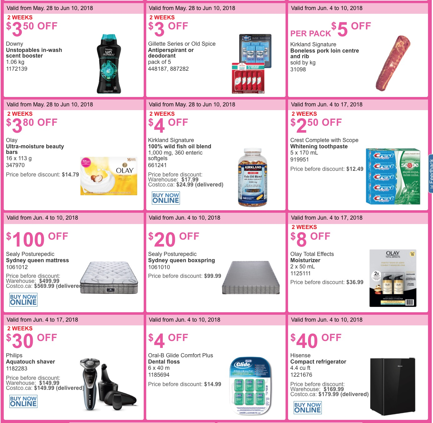 7bdc2d8a8c Monday means new great deals from Costco Canada! Here re the new weekly  instant handouts savings coupons available at all Costco Wholesale  warehouses in ...