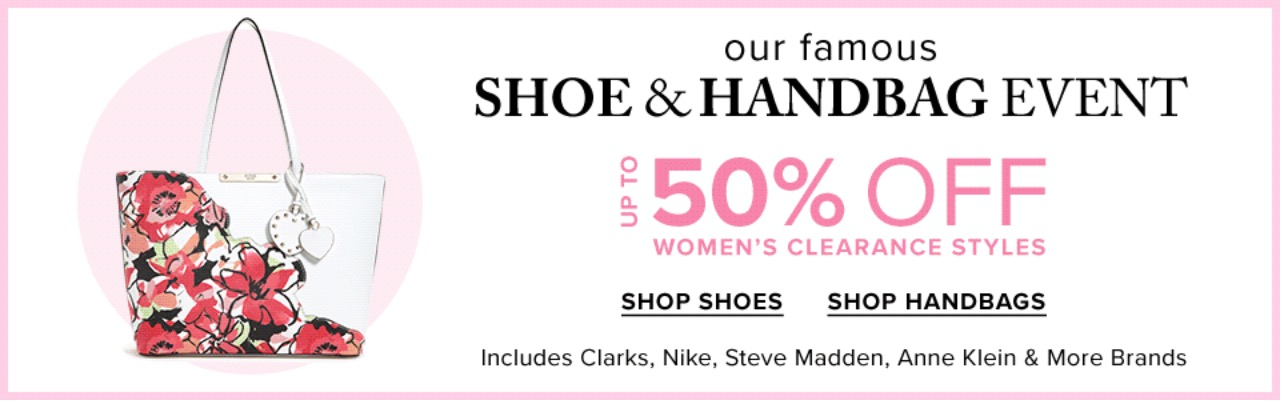 1cd01b885 Hudson s Bay Canada has Shoe   Handbag Event available now that includes   Save up to 50% the Famous Shoe   Handbag Clearance Styles by Clarks