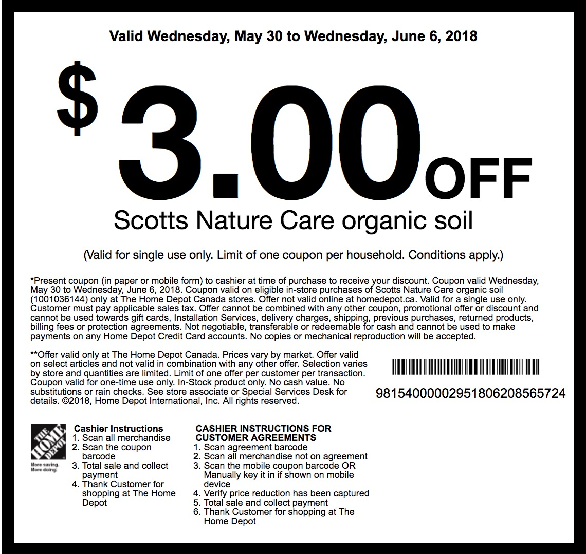 The Home Depot Garden Club New Coupons Save Off Scotts Nature Care Organic Soil Hot