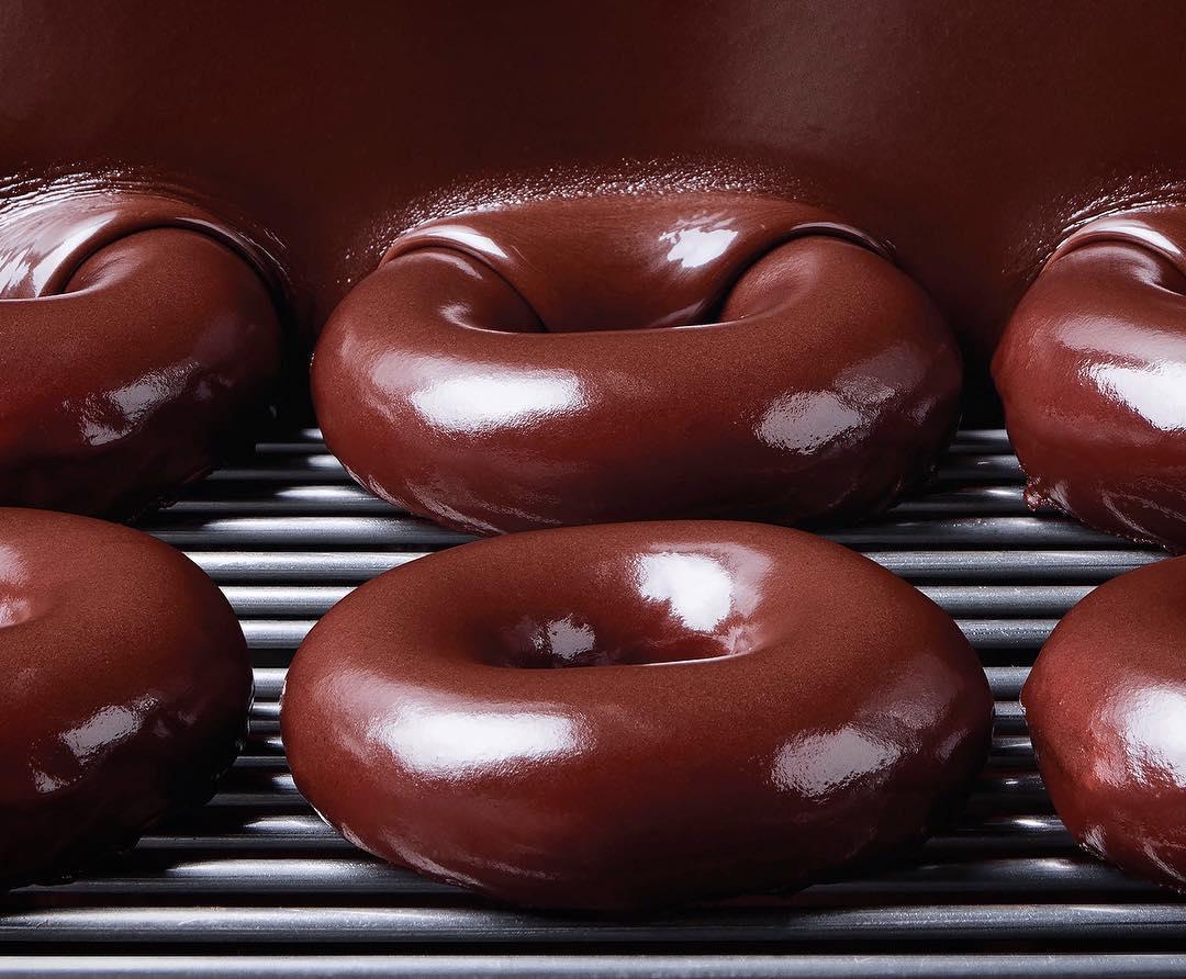 krispy kreme canada chocolate glaze doughnut available. Black Bedroom Furniture Sets. Home Design Ideas
