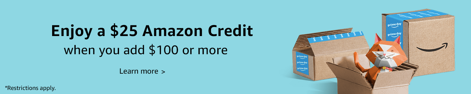 Amazon Canada Offer: Free $25 Credit When You Add $100