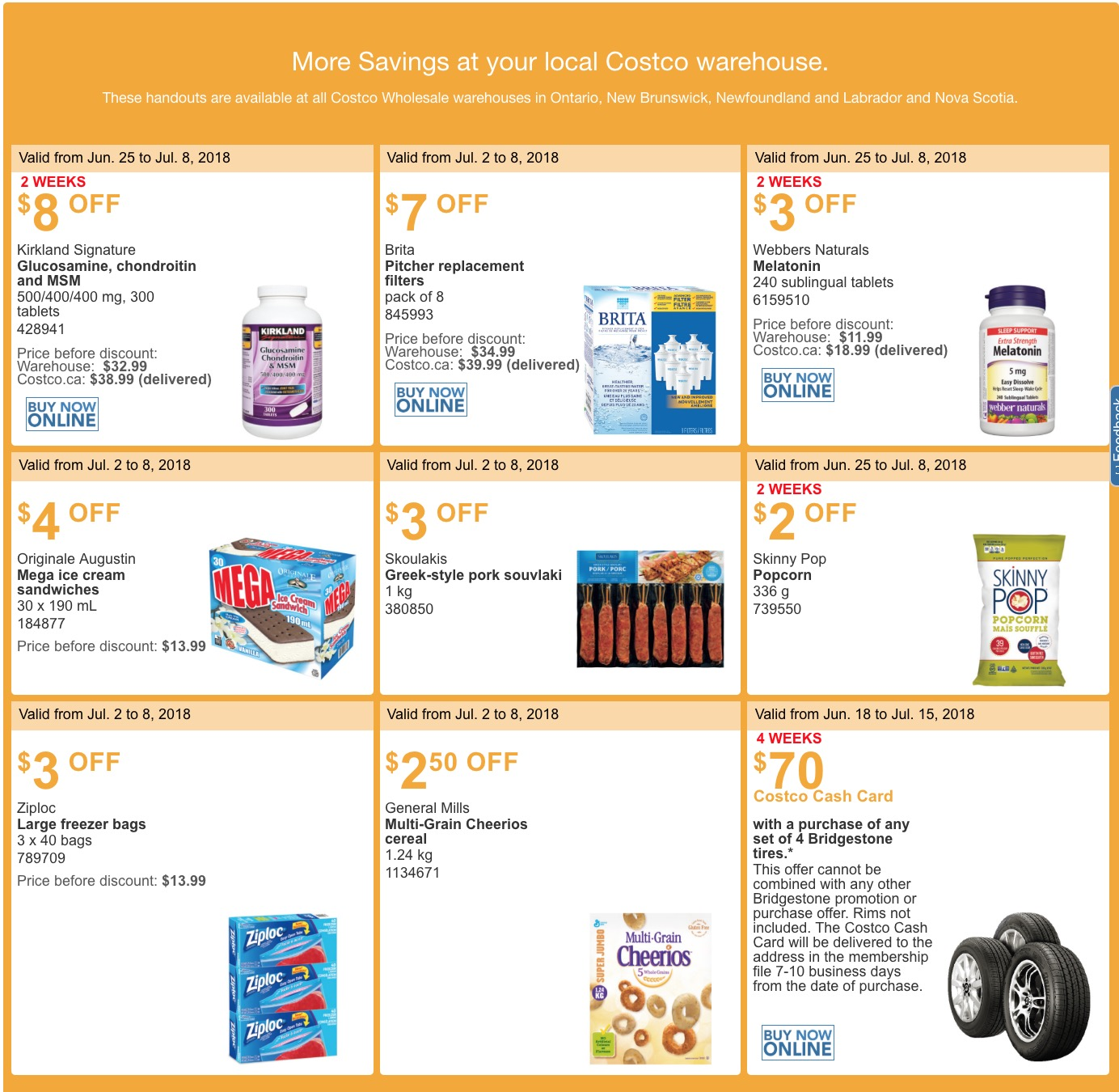 4dc9a96669 Costco Canada has now released the new eastern weekly instant discount  handouts! These handouts are available at all Costco Wholesale warehouses  in Ontario