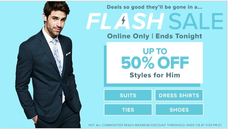 Hudson's Bay Canada Online Flash Sale: Today, Save up to 50% off Suits, Dress Shirts, Ties & Shoes