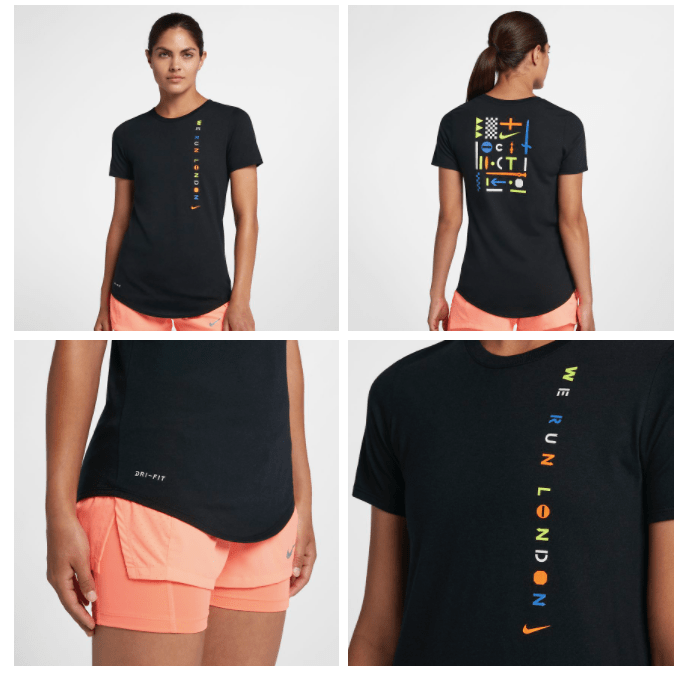 ddf2e1b3 This Nike (London 2018) Women's Running T-shirt is on sale for only $28.99.  You're saving $13.01 from the original price of $42.00!