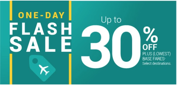 WestJet Canada Flash Sale: Today, Save 30% off Plus (Lowest) Base Fares + 15% offEcono Base Fares With Promo Code