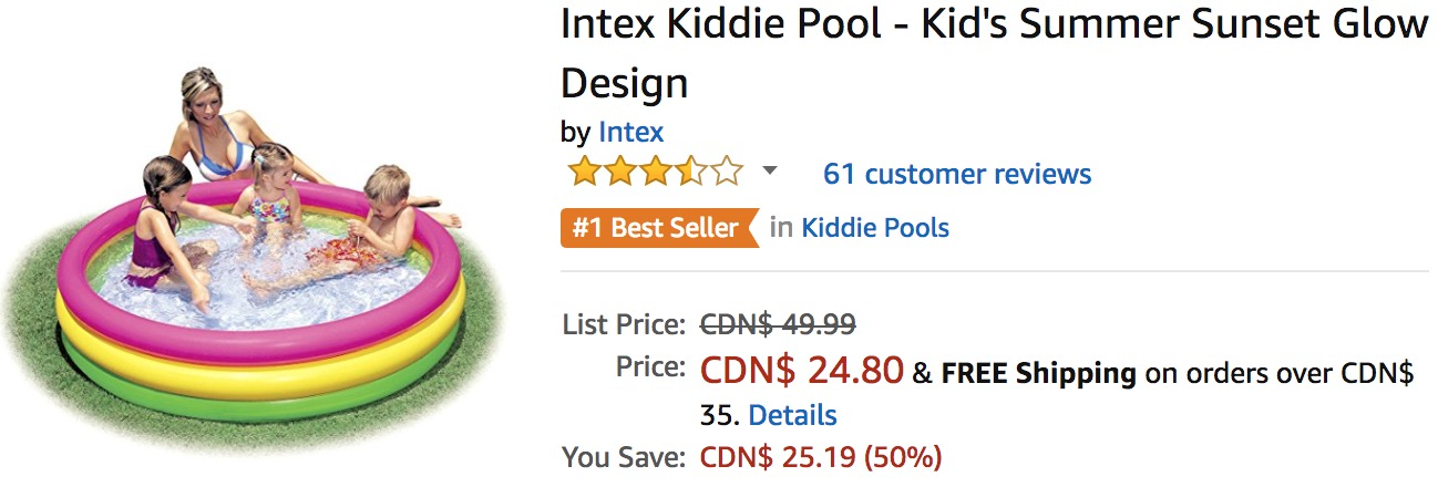 Amazon Canada Deals: Save 50% on Intex Kiddie Pool + 35% on KidKraft Chelsea Doll Cottage