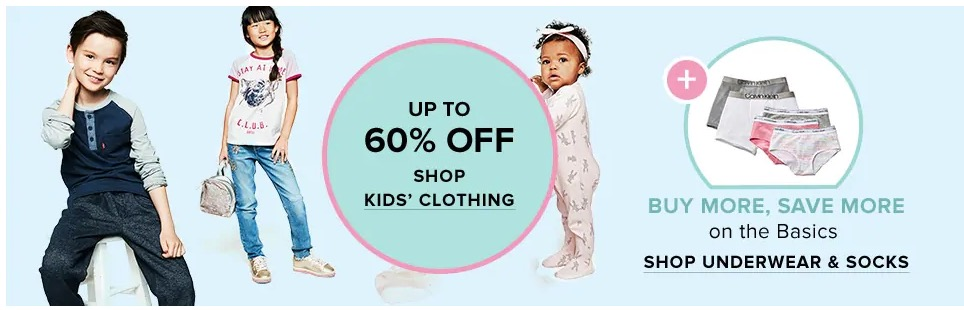 07b0ba5df Hudson's Bay Canada Offers: Save 60% off Select Kids' Clothing & 70% off + Extra  20% off Clearance