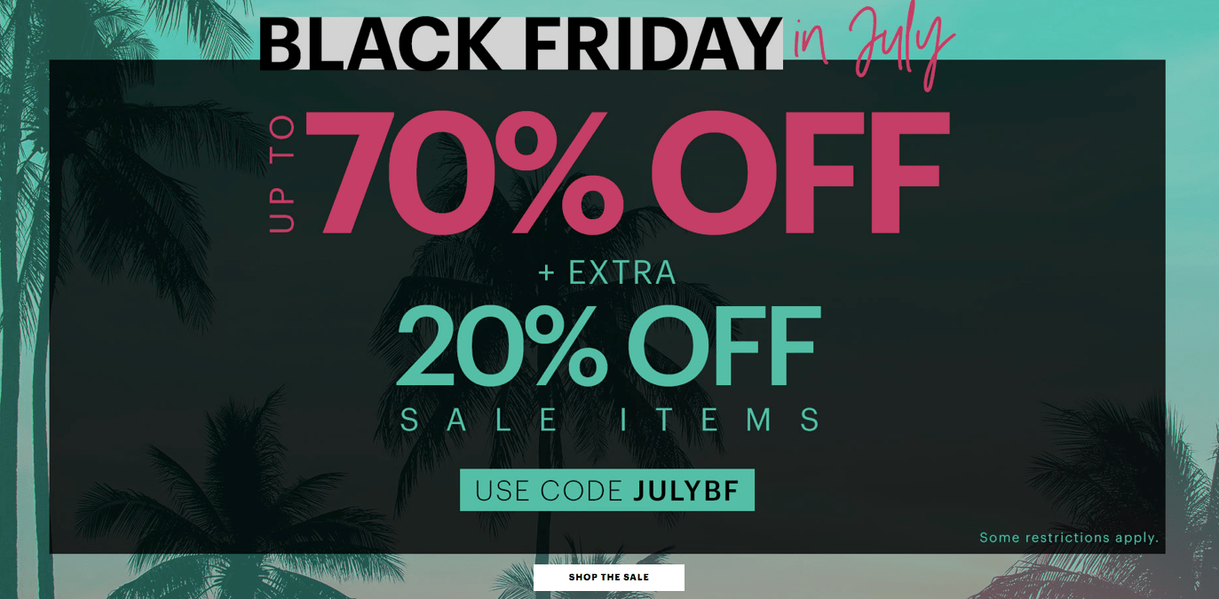 10d5672f6e3f7 Ardene Canada Black Friday in July Sale: Save Up to 70% OFF & Extra 20% OFF  Sale Items with Promo Code + Buy 1 Top Get 1 Bottom FREE Swimwear + More ...