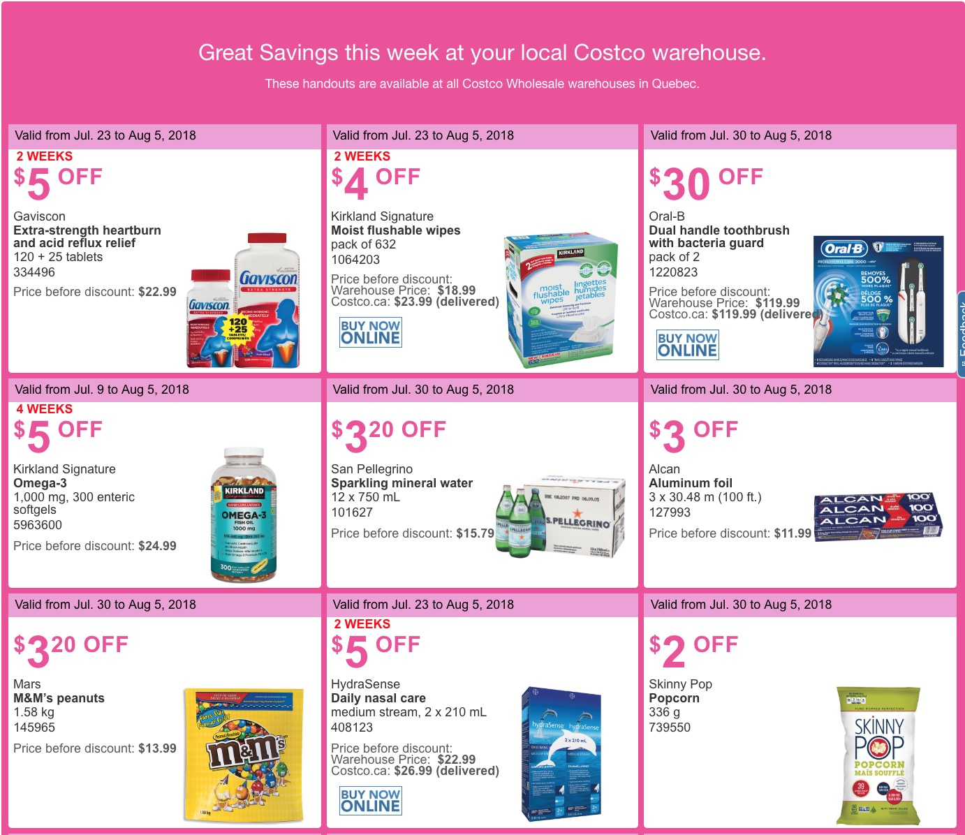 Costco Canada Weekly Summer Savings Coupons/Flyers for