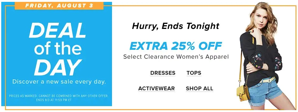 Hudson s Bay Canada Deal Of The Day  Save an EXTRA 25% off Select Clearance  Women s Apparel 6218b6494075b