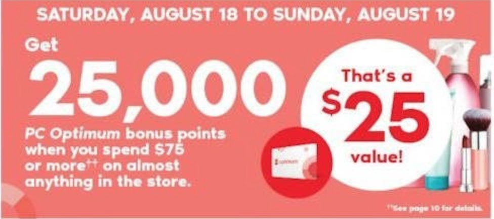Shoppers Drug Mart Canada Deals: Get 25,000 PC Optimum